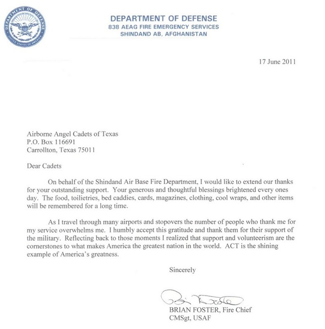 Letters to troops overseas